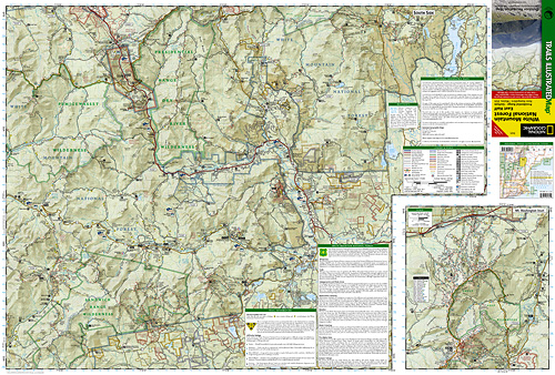 Maine Guide Supply National Geographic Trail Map of White