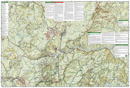 National Geographic Trail Map of White Mountain National Forest East