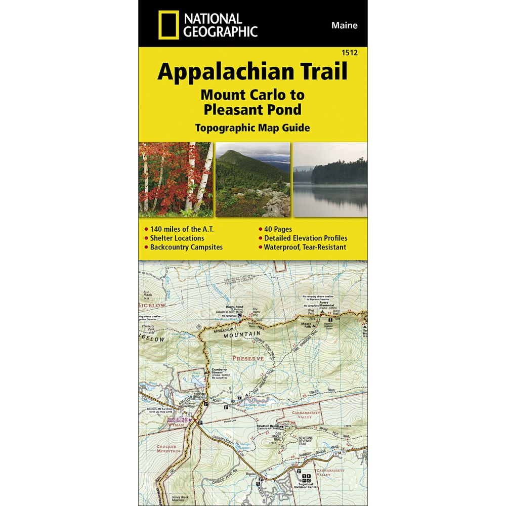 Maine Guide Supply - National Geographic Trail Map Appalachian Trail ...